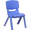 Flash Furniture Plastic Stackable School Chair with 10.5'' Seat Height<br>(FLA-YU-YCX-003-GG)