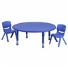 Flash Furniture 45'' Round Adjustable Plastic Activity Table Set with 2 School Stack Chairs