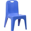 Flash Furniture Plastic Stackable School Chair with Carrying Handle and 11'' Seat Height<br>(FLA-YU-YCX-011-GG)