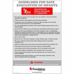 Foundations First Responder Infant Evacuation Protocol Sign<br> (Foundations FOU-1963006)