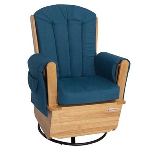 blue rocking chair. Foundations Saferocker Ss Swivel Glider Rocking Chair - Natural/Blue (Foundations FOU-4303046 Blue