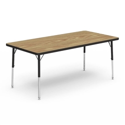 "FZA-483060-ASAP Fuerza 483060LO Rectangle Preschool Activity Table (30""W x 60""L x 17-25""H) - Light Oak Top"