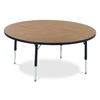 "FZA-4848R-ASAP Fuerza 4848RLO Rectangle Preschool Activity Table (48"" Diameter x 17-25""H) - Light Oak Top"
