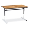 "Fuerza 873048 8700 Series, Computer Table, Rectangular 30"" x 48"", 1 1/8"" Thick Laminate Top, Height Adjusts 22"" - 30""  (Fuerza 873048)"