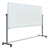 "Fuerza 96""W x 40""H Mobile Double-Sided Dry Erase Magnetic Whiteboard"