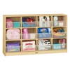 Jonti-Craft Baltic Birch 12-Cubby Storage Unit with Clear Tubs  (Jonti-Craft JON-03050JC)