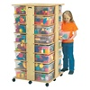 Jonti-Craft Mobile Cubby Storage Tower-32 Cubbies with Clear Tubs  (Jonti-Craft JON-03540JC)