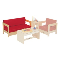 Jonti-Craft Red Living Room-Couch  (Jonti-Craft JON-0375JC)