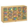 Jonti-craft Baltic Birch 20-Cubby Mobile Storage Unit with Clear Trays  (Jonti-Craft JON-04210JC)