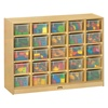 Jonti-Craft Baltic Birch 25-Cubby Mobile Storage Unit with Clear Trays  (Jonti-Craft JON-04260JC)