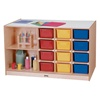 Jonti-Craft Mobile Storage Island with Colorful Trays  (Jonti-Craft JON-0440JC)