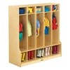 Jonti-Craft Baltic Birch Stand-Alone Coat Locker with Step  (Jonti-Craft JON-0468JC)