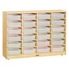 Jonti-Craft Baltic Birch Paper Tray Cubby Unit-24 Cubbies with out Trays  (Jonti-Craft JON-0624JC)