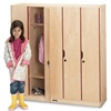 Jonti-Craft Five-Section Lockers with Doors  (Jonti-Craft JON-2621JC)