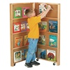 Jonti-Craft Mobile Library Bookcase - Two Sections  (Jonti-Craft JON-2671JC)
