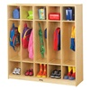 Jonti-Craft Baltic Birch Stand-Alone Coat Lockers with out Step  (Jonti-Craft JON-2681JC)