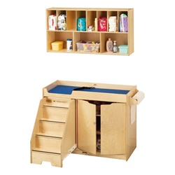 Jonti-Craft Changing Table with Stairs and Diaper Organizer  (Jonti-Craft JON-5135JC)