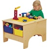 Jonti-Craft Building Table With Lego Compatible Top- Colored Storage Tubs  (Jonti-Craft JON-57449JC)
