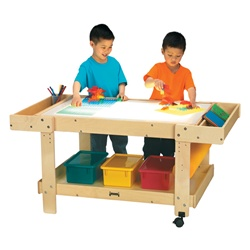 "Jonti-Craft Creative Caddie Light Table with Two Bins 55""  (Jonti-Craft JON-58505JC)"
