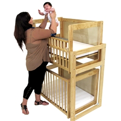 L.A. Baby Modular Window Crib with Dual Fixed Side Rails - LAB 755