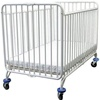 L.A. Baby Full Size Metal Folding Crib in White, Fixed Dual Side Rails (L.A. Baby LAB-86 or LBB-86)