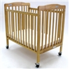 L.A. Baby The Pocket Crib-Mini - Portable Folding Wood Crib -- Mattress Included (L.A. Baby, LAB-888)