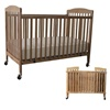 L.A. Baby Full Size Wood Folding Crib with Fixed Dual Side Rails (L.A. Baby LAB-983 or LBB-983)