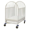 L.A. Baby The Deluxe Arched Compact Crib in White -- Mattress Included<br> (L.A. Baby LAB-990, LBB-990)
