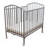 "L.A. Baby Metal Folding Crib -- 2"" Flame Retardant Mattress Included (L.A. Baby LAB-CS81)"
