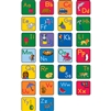 Learning Carpets Alphabet Scramble -Alphabet Seating Squares with Images - Set of 26