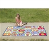 Learning Carpets Alphabet Scramble -Time to Learn Play Carpet- Rectangle Large