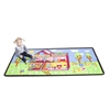 Learning Carpets Alphabet Scramble -Our Dream House Play Carpet- Rectangle Large