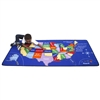 Learning Carpets Alphabet Scramble -US Map Play Carpet- Rectangle Large