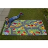 Learning Carpets Alphabet Scramble -Happy Little Town Play Carpet- Rectangle Large
