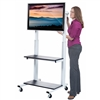 Luxor Crank Adjustable Flat Panel TV Cart<br> (Luxor LUX-CLCD)