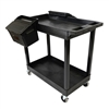 "Luxor E Series EC11-B-OUTRIG - Tub Cart 2 Shelves with Outrigger Utility Cart Bins -  35.25"" W x 34.25"" H (Luxor LUX-EC11-B-OUTRIG)"