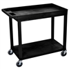 Luxor 18 x 32 Cart 1 Tub / 1 Flat Shelves (LUX-EC12-B)