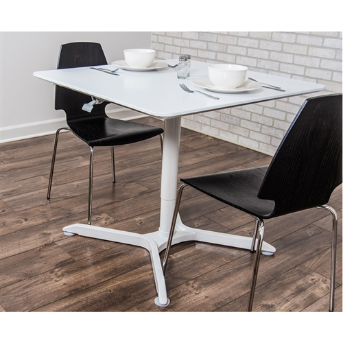 LUXOR 36 Pneumatic Height Adjustable Round Cafe Table Gray