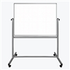 "Luxor Mobile Magnetic Double-Sided Ghost Grid Whiteboard 48"" x 36"" (LUX-MB4836LB)"