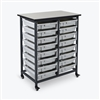 Luxor Mobile Bin Storage Unit - Double Row