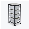 Luxor Mobile Bin Storage Unit - Single Row - Large Bins