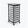 Luxor Mobile Bin Storage Unit - Single Row - Small Bins