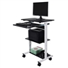 Luxor Mobile 3 Shelf Adjustable Stand Up Workstation(LUX-STAND-WS30)