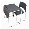 Luxor STUDENT-STK1PK - Lightweight Stackable Student Desk and Chair - 1 Pack (LUX-STUDENT-STK1PK)
