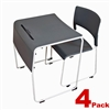 Luxor STUDENT-STK4PK - Lightweight Stackable Student Desk and Chair - 4 Pack (LUX-STUDENT-STK4PK)