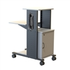 "H. Wilson WPS4CE - 40"" Mobile Presentation Station with Cabinet & Electric (H. Wilson LUX-WPS4CE)"