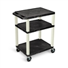 "H. Wilson Tuffy 34"" Open Shelf AV Cart with Legs (H. Wilson LUX-WT34E)"