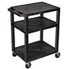 "Luxor Tuffy 34"" Open Shelf AV Cart with Legs  (Luxor LUX-WT34E-BLACK)"