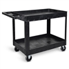 Luxor XLC11-B - Two-Shelf Heavy-Duty Utility Cart (LUX-XLC11-B)