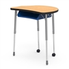 "VIRCO Molecule Series Student Desk 24"" x 32"" Top with book box and casters with Backpack Hanger (VIRCO MC2432BBC)"